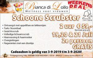 Schoone Scrubster 2e persoon gratis